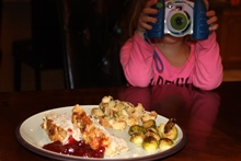 Turkey Meatloaf w/ Cranberry and an extra photographer