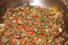 Italian sausage stuffing for mushroom caps
