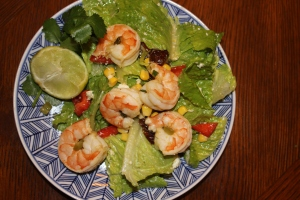 Tequila Lime Prawns with a Southwest Salad