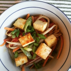 Bean sprout salad with tofu