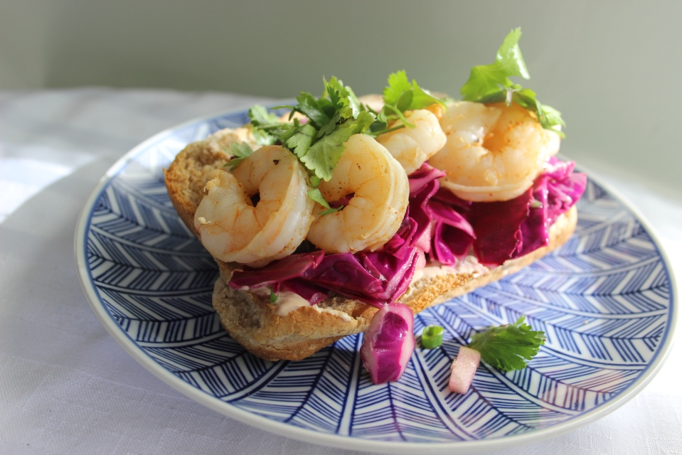 Corona Marinated Prawn Sandwich